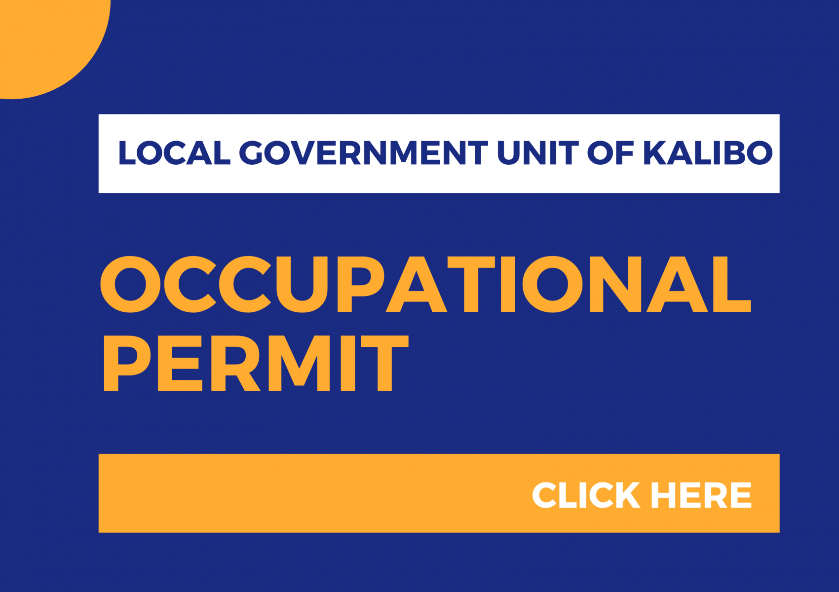 Occupational Permit